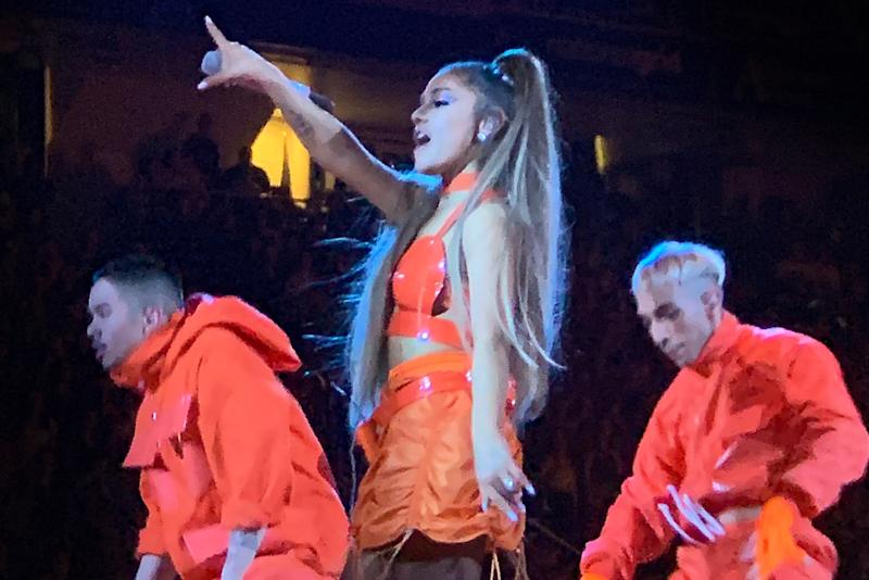 2af204c92 Ariana Grande Kicks Off World Tour in the Craziest 7-Inch Heeled Thigh-High  Boots
