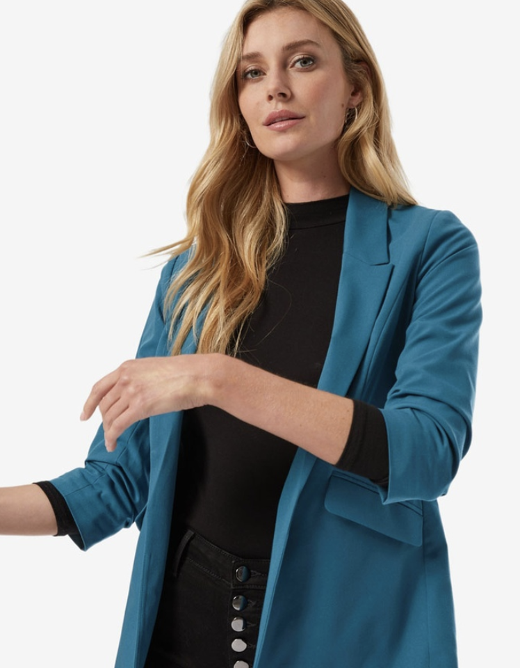 Dorothy Perkins Teal Jacket. (PHOTO: Zalora)