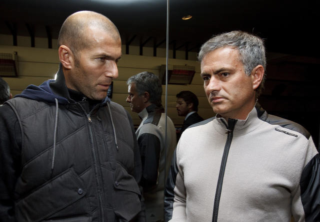 "Zidane has ""told friends"" he wants to be Manchester United boss while Mourinho has ""told friends"" he would have any other club by now"