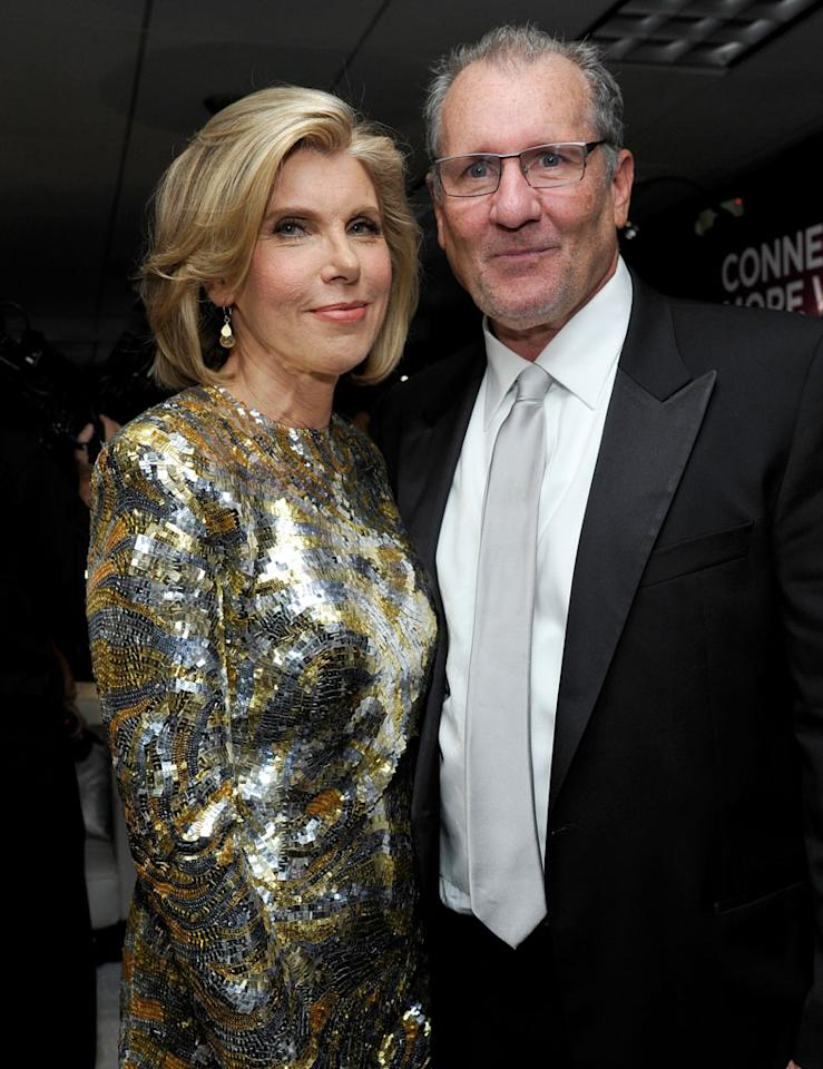Christine Baranski and Ed O'Neill attend the Presenters Gift Lounge Backstage in celebration of the 64th Primetime Emmy Awards produced by On 3 Productions at Nokia Theatre L.A. Live on September 23, 2012 in Los Angeles, California.