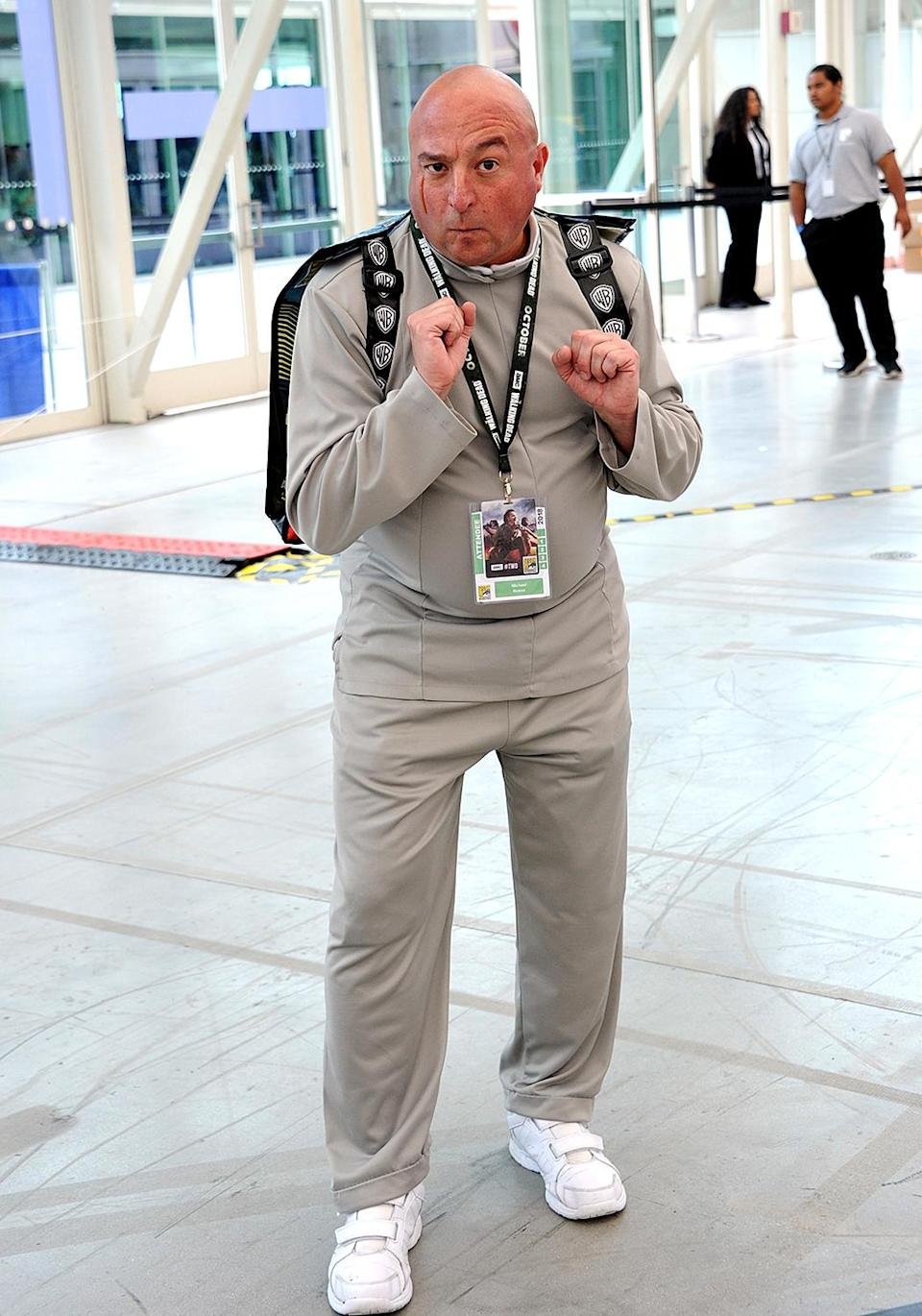 <p>Cosplayer dressed as Dr. Evil at Comic-Con International on July 20 in San Diego. (Photo: Albert L. Ortega/Getty Images) </p>