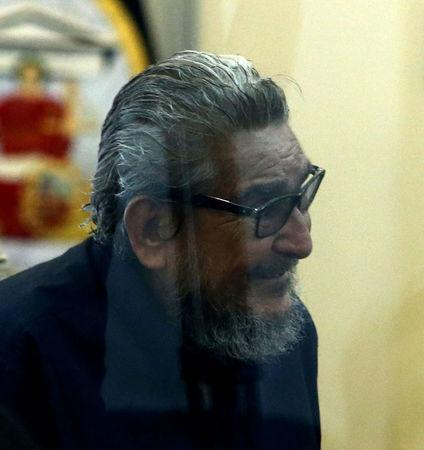 Former Shining Path leader Abimael Guzman attends trial at a high security naval prison in Lima February 28, 2017. REUTERS/Guadalupe Pardo