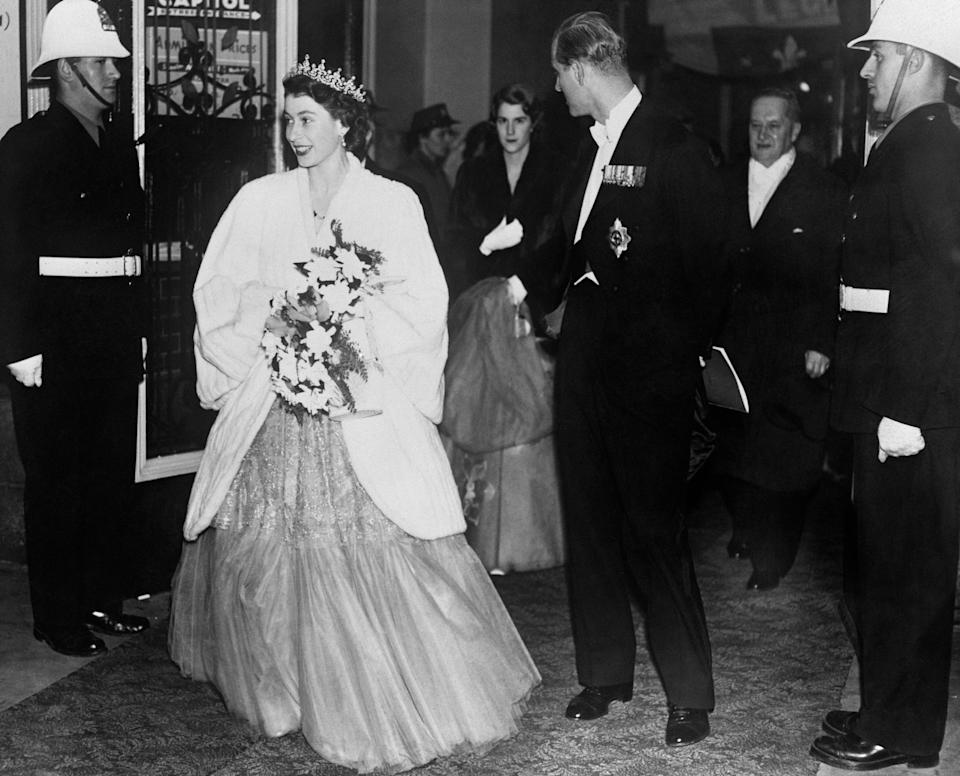 Princess Elizabeth and the Duke of Edinburgh at a state banquet at the Chateau Frontenac in Quebec City during their 1951 visit. (Photo: PA Images via Getty Images)