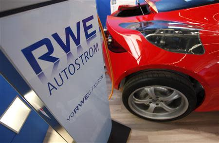 A file picture of a recharging system of German power supplier RWE in Frankfurt