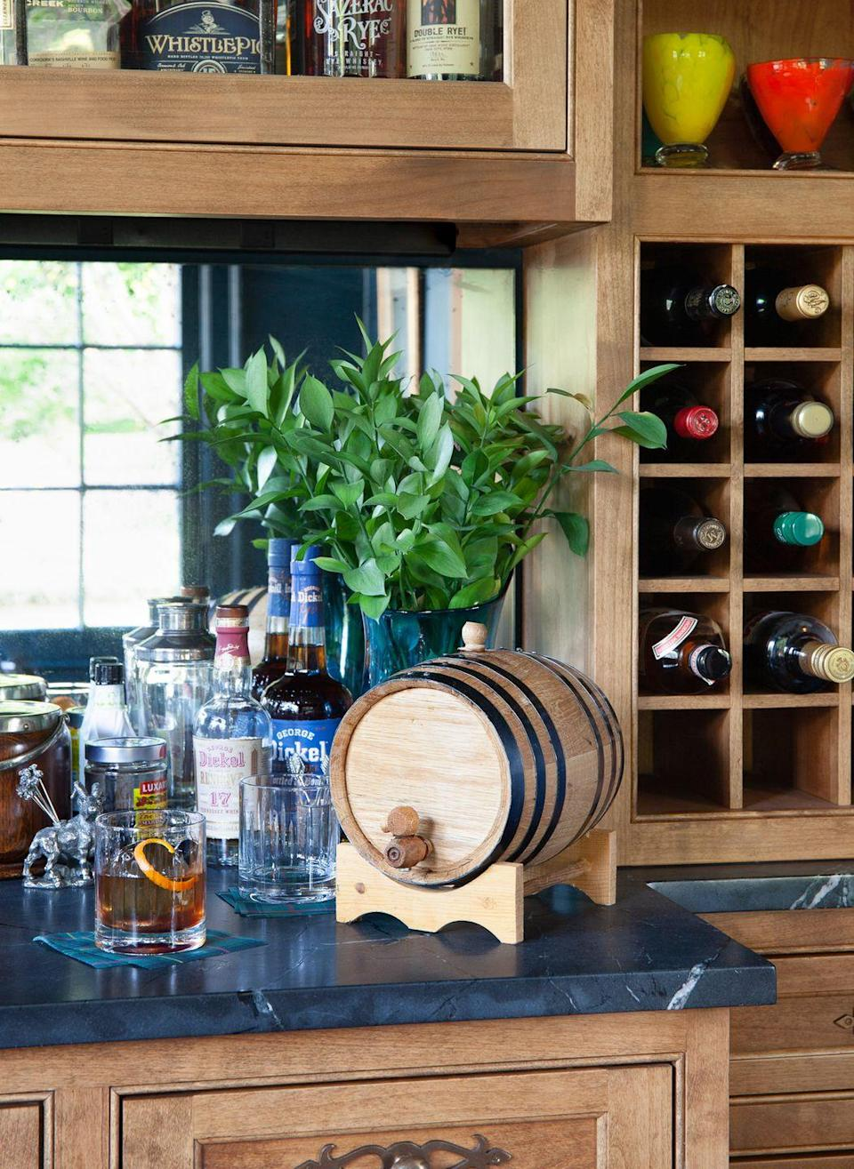 """<p>On Father's Day, it's always five o'clock somewhere. You'll need about a month's lead time to make this—or just get dad an aging barrel, and let him make his own!</p><p><strong><a href=""""https://www.countryliving.com/food-drinks/a34659441/nashattan-aged-manhattan-cocktail/"""" rel=""""nofollow noopener"""" target=""""_blank"""" data-ylk=""""slk:Get the recipe"""" class=""""link rapid-noclick-resp"""">Get the recipe</a>.</strong> </p>"""