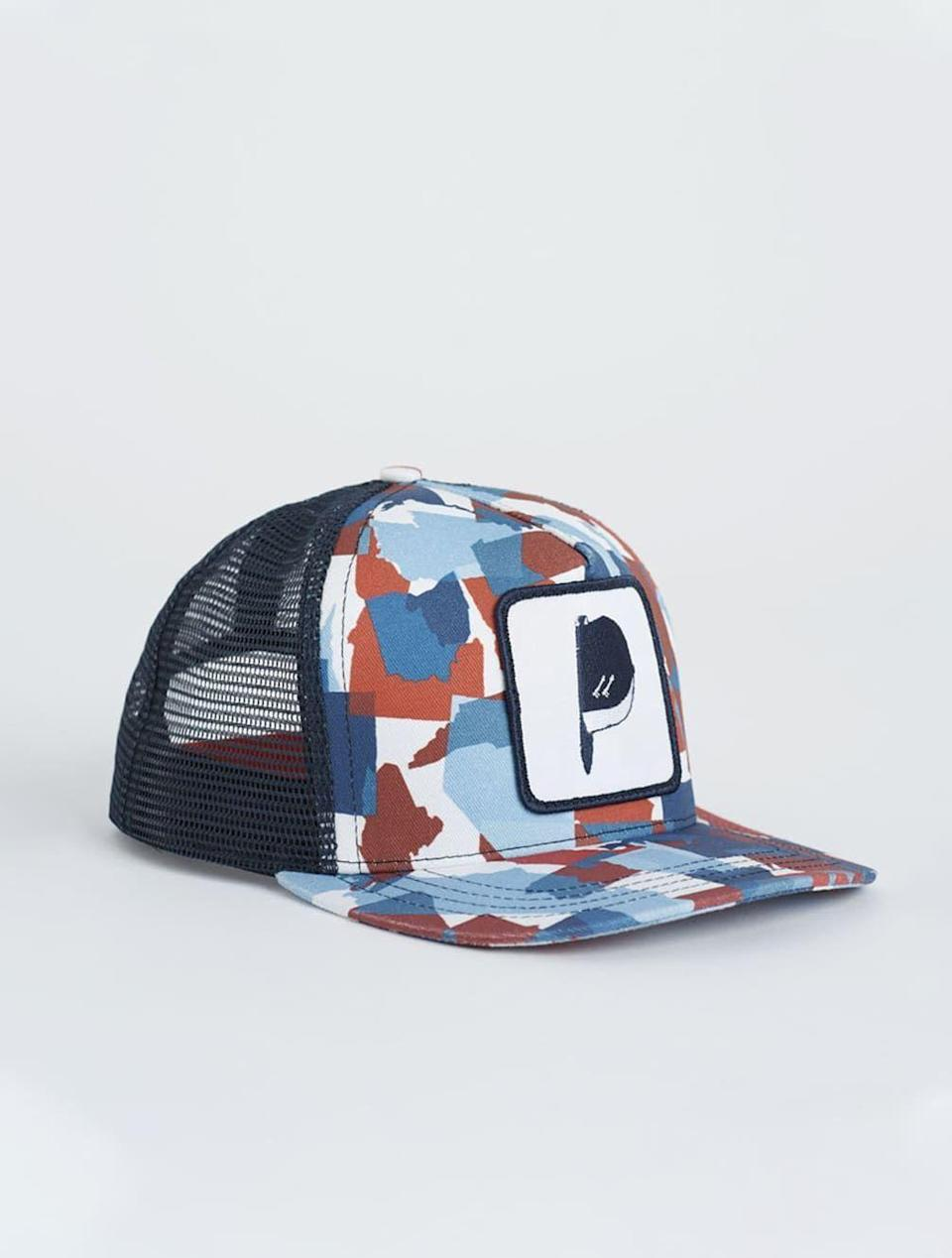 """<p><strong>United States of Camo</strong></p><p>unitedstatesofcamo.com</p><p><strong>$40.00</strong></p><p><a href=""""https://unitedstatesofcamo.com/collections/all-products/products/nantucket-red-trucker"""" rel=""""nofollow noopener"""" target=""""_blank"""" data-ylk=""""slk:SHOP NOW"""" class=""""link rapid-noclick-resp"""">SHOP NOW</a></p><p>Show solidarity for our military when you sport this trucker hat—10 percent of sales go directly to supporting veterans with mental health issues. </p>"""