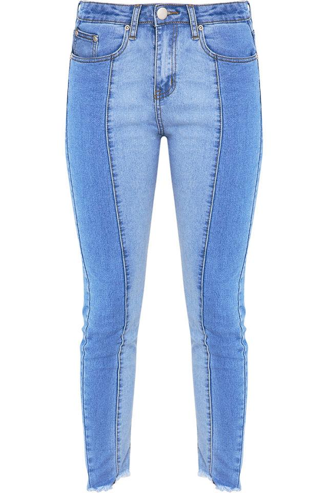 """<p>If you're a jeans girl and a hot day isn't going to change that, at least opt for a pair that's cropped to the ankle. ($49; <a rel=""""nofollow"""" href=""""https://www.prettylittlething.us/super-light-wash-panel-detail-cut-hemskinny-jean.html"""">prettylittlething.us</a>)</p>"""