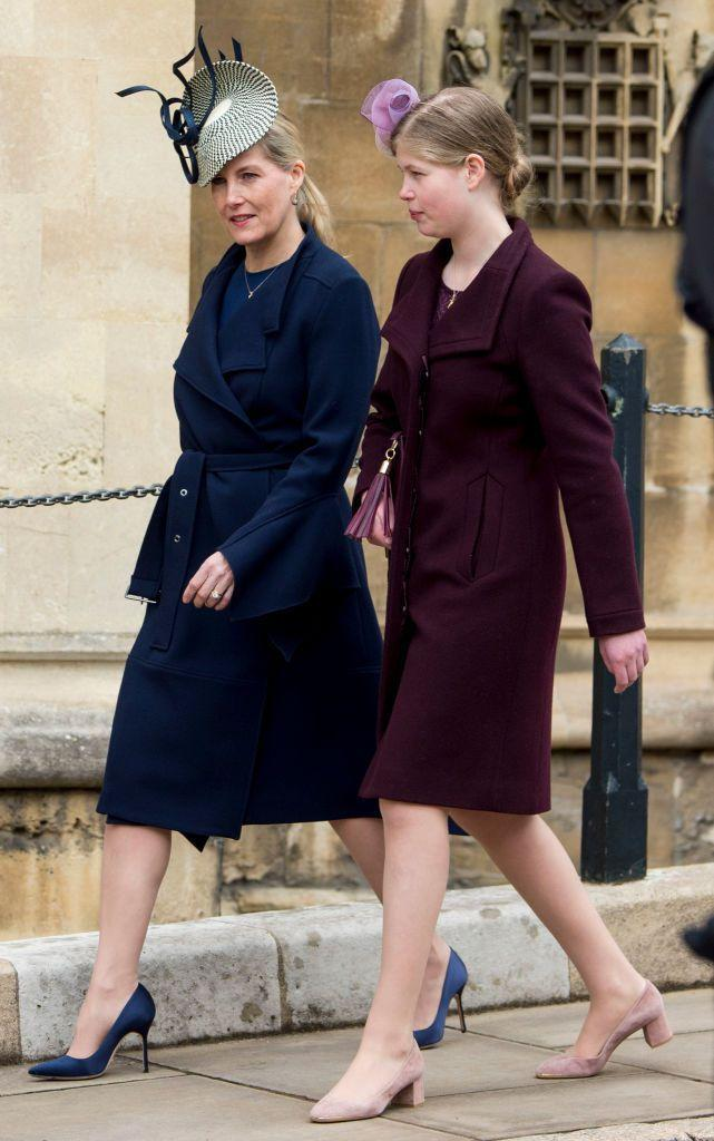 """<p>Prince Edward's wife and their <a href=""""https://www.townandcountrymag.com/society/tradition/a14501238/lady-louise-windsor-facts/"""" rel=""""nofollow noopener"""" target=""""_blank"""" data-ylk=""""slk:daughter"""" class=""""link rapid-noclick-resp"""">daughter</a> attend the royal family's Easter church service. </p>"""