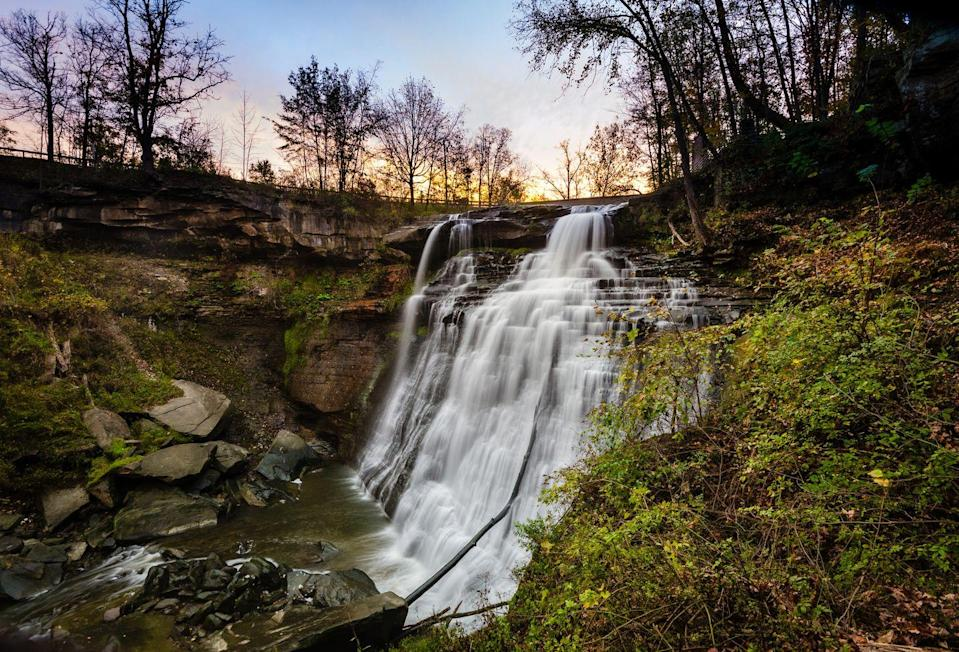 """<p><a href=""""https://www.nps.gov/cuva/index.htm"""" rel=""""nofollow noopener"""" target=""""_blank"""" data-ylk=""""slk:Cuyahoga Valley National Park"""" class=""""link rapid-noclick-resp""""><strong>Cuyahoga Valley National Park</strong></a></p><p>Not too far from Cleveland, you'll find this scenic park filled with beautiful hiking, waterfalls, and some really spectacular bird and wildlife watching. </p>"""