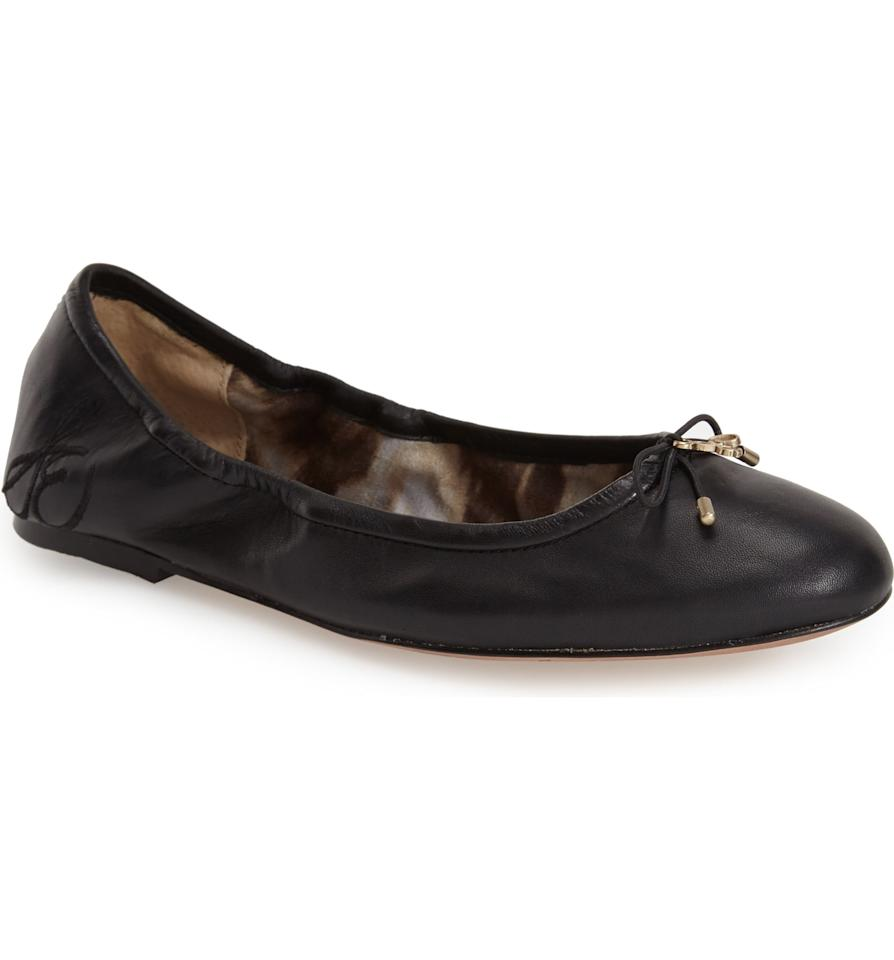 """<p>Want several different colors? You're in luck because these <a href=""""https://www.popsugar.com/buy/Sam-Edelman-Felicia-Flats-317913?p_name=Sam%20Edelman%20Felicia%20Flats&retailer=shop.nordstrom.com&pid=317913&price=110&evar1=fab%3Aus&evar9=23444878&evar98=https%3A%2F%2Fwww.popsugar.com%2Fphoto-gallery%2F23444878%2Fimage%2F44701618%2FSam-Edelman-Felicia-Flats&list1=shopping%2Cnordstrom%2Cshoes%2Csam%20edelman%2Cget%20the%20look%2Cstyle%20how-to%2Cfashion%20shopping&prop13=api&pdata=1"""" rel=""""nofollow"""" data-shoppable-link=""""1"""" target=""""_blank"""" class=""""ga-track"""" data-ga-category=""""Related"""" data-ga-label=""""https://shop.nordstrom.com/s/sam-edelman-felicia-flat/3194852"""" data-ga-action=""""In-Line Links"""">Sam Edelman Felicia Flats</a> ($110-$120) come in seven shades.</p>"""