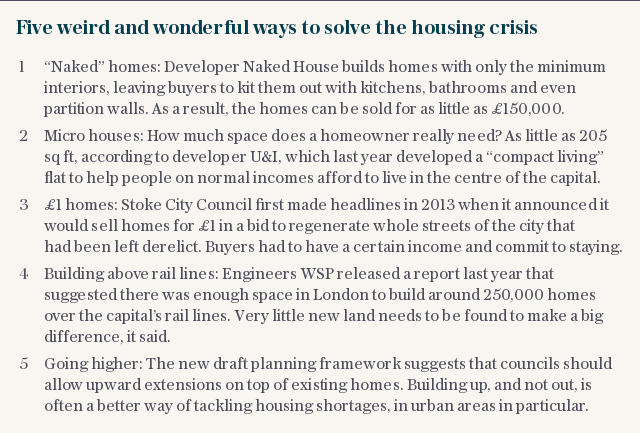 Five weird and wonderful ways to solve the housing crisis
