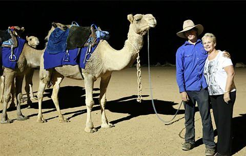 Camel rides in Alice Springs as part of the Ghan's Anzac Tribute Train. Photo: Cristal Bettany for Total Travel
