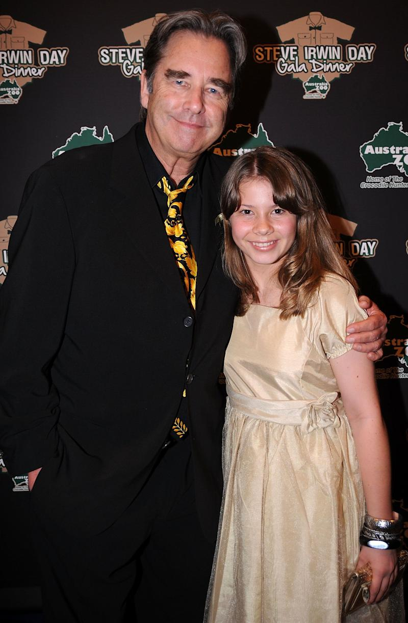 Actor Beau Bridges and Bindi Irwin arrive at the Steve Irwin Day Gala Dinner to celebrate the life Steve Irwin and raise funds for Australia Zoo Wildlife Warriors at Brisbane Convention & Exhibition Centre on November 13, 2010 in Brisbane, Australia. (Photo by David Hardenberg/Getty Images)