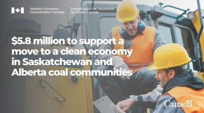 $5.8 million to support a move to a clean economy (CNW Group/Western Economic Diversification Canada)