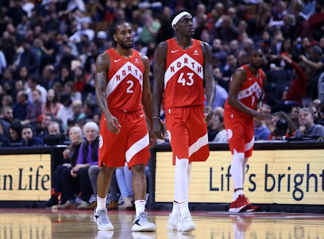 The combo was short lived, but Kawhi Leonard and Pascal Siakam were a force during Toronto's championship season. (Photo by Vaughn Ridley/Getty Images)