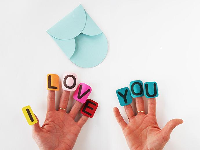 "<p>These adorable little finger puppets from Handmade Charlotte add a playful touch to the classic Valentine. Download the free printable <a href=""http://www.handmadecharlotte.com/say-i-love-you-with-finger-craft-letters/"">here</a>. <i>(Photo: <a href=""http://www.handmadecharlotte.com/say-i-love-you-with-finger-craft-letters/"">Handmade Charlotte</a>)</i></p>"