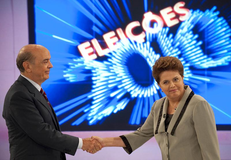 Brazil's presidential candidates Dilma R