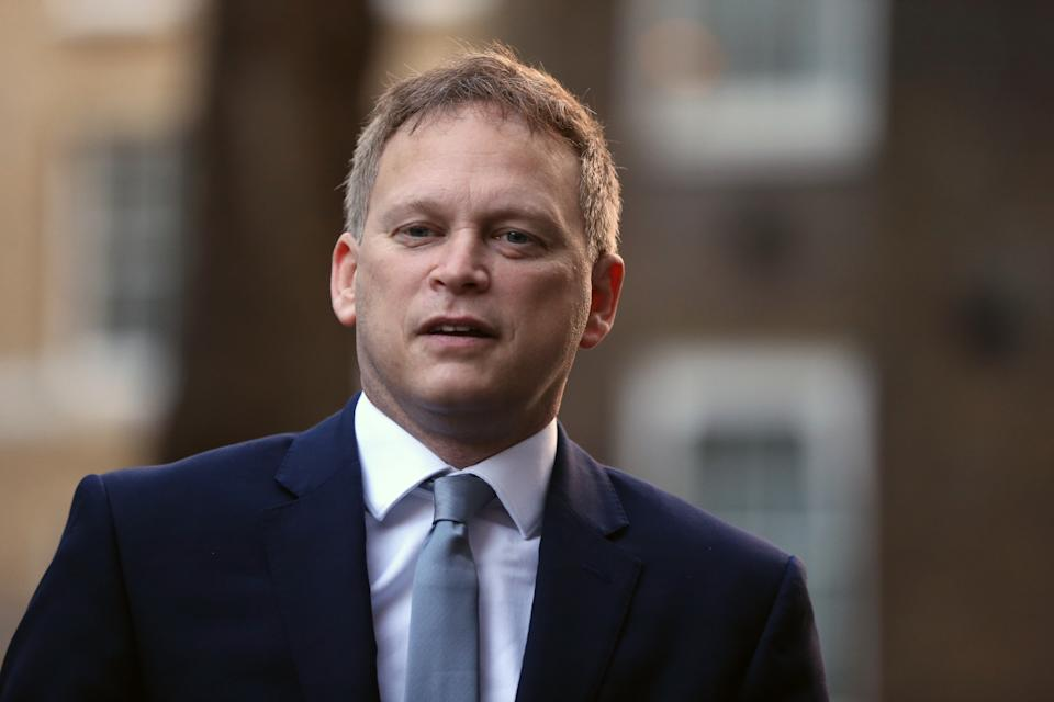 LONDON, UNITED KINGDOM - DECEMBER 15: UK Secretary of State for Transport Grant Shapps  arrives at 10 Downing Street in London, England on December 15, 2020. (Photo by Tayfun Salci/Anadolu Agency via Getty Images)