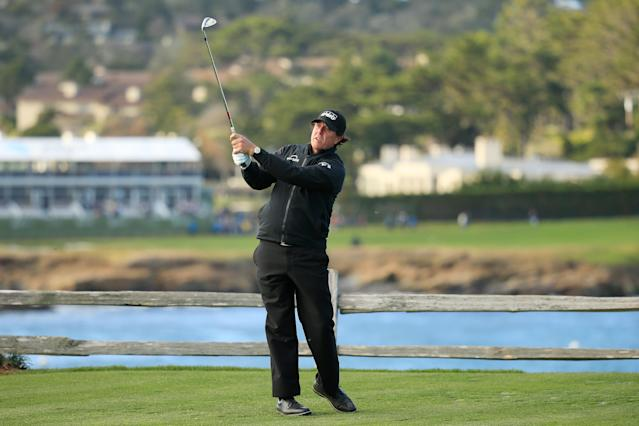 Phil Mickelson is back on top, for the moment. (Getty)