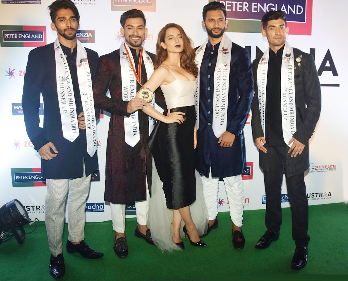 <p>Celebs at Mr. India pageant </p>
