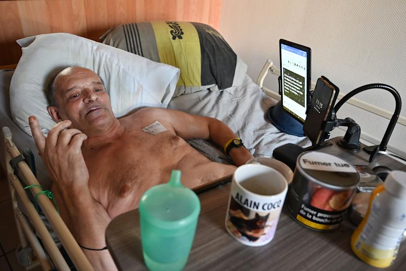 Alain Cocq hoped to broadcast his death on Facebook, as a way to highlight the agony the current laws surrounding euthanasia cause. Source: AFP/Getty Images