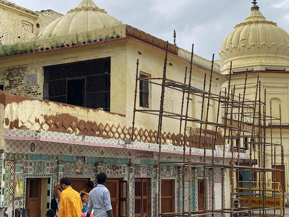 Work is on to revamp the heritage structures at Ram ki Paidi using traditional methods