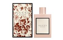 "<p><a href=""https://www.gucci.com/uk/en_gb/ca/runway/bloom-c-runway-gucci-bloom"" rel=""nofollow noopener"" target=""_blank"" data-ylk=""slk:Gucci, from £72"" class=""link rapid-noclick-resp""><i>Gucci, from £72</i></a><br><br></p>"