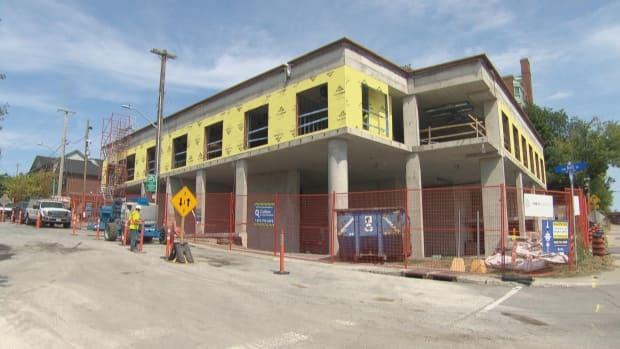 The John Howard Society's new building with supportive housing and a new head office is due to be completed on Carling Avenue in March 2022. (CBC - image credit)
