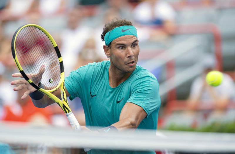 Nadal advances to third round in rain-hit ATP Montreal Masters