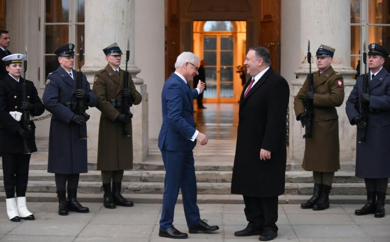 US Secretary of State Mike Pompeo, who is heading to Poland as part of a growing relationship, is welcomed on a February 2019 visit by Foreign Minister Jacek Czaputowicz