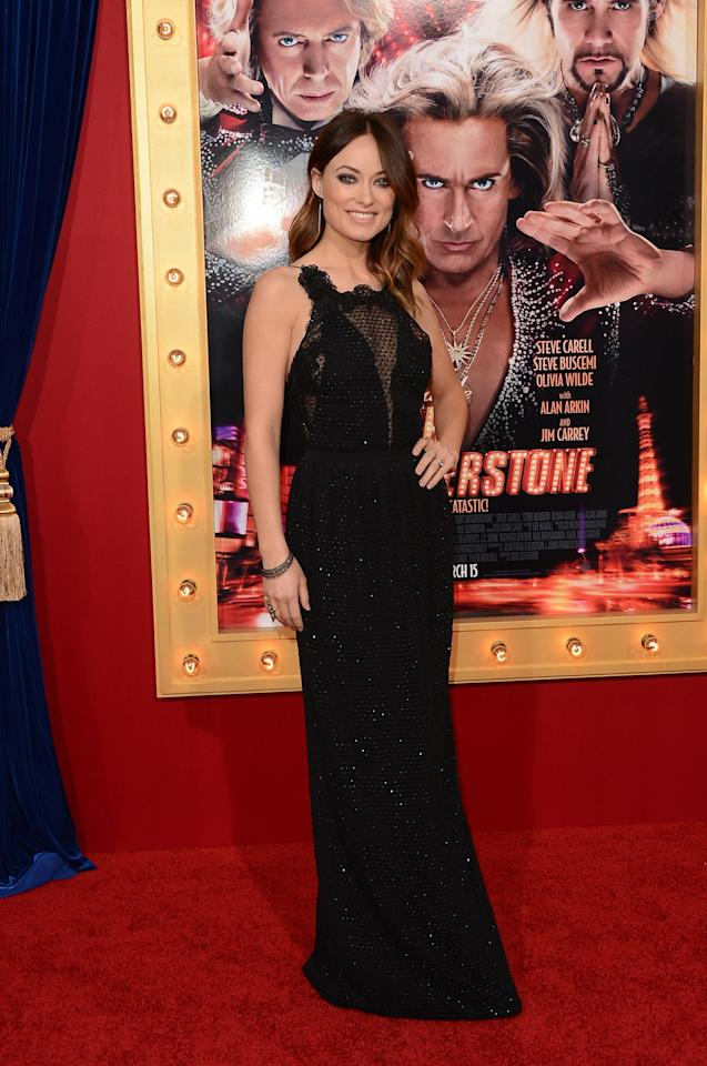 HOLLYWOOD, CA - MARCH 11:  Actress Olivia Wilde attends the premiere of Warner Bros. Pictures' 'The Incredible Burt Wonderstone' at TCL Chinese Theatre on March 11, 2013 in Hollywood, California.  (Photo by Jason Merritt/Getty Images)