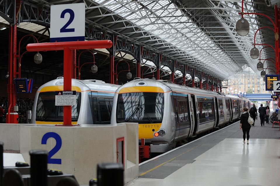 A general view of a Chiltern Railways train at Marylebone Station, central London.   (Photo by Nick Ansell/PA Images via Getty Images)