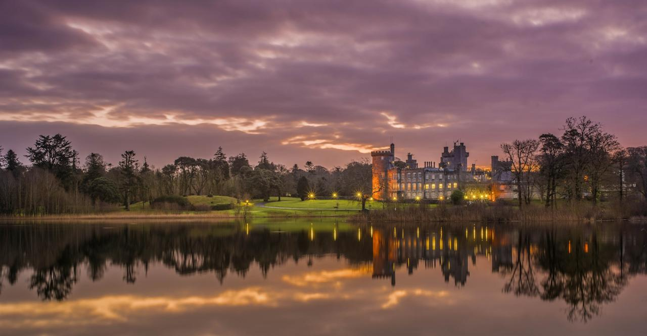 """<p><span>Sumptuous suites, antique chandeliers, open fires and sweeping staircases make <a rel=""""nofollow"""" href=""""http://Dromoland.ie"""">this 5* hotel</a> a right royal choice. It was the ancestral home of the kings of Thomond and activities on offer include falconry, cycling and fishing. B&B doubles from £200 per night. [Photo: Dromoland Castle]</span> </p>"""