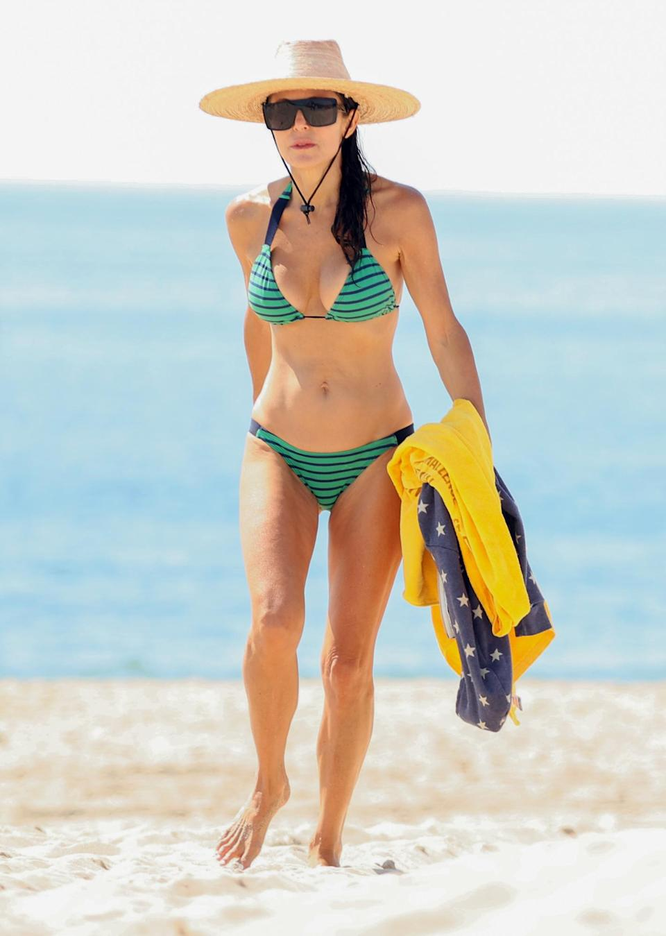 <p>Bethenny Frankel spends time with her friend Dan Wright at Sag Harbor Beach in the Hamptons, New York on July 24.</p>