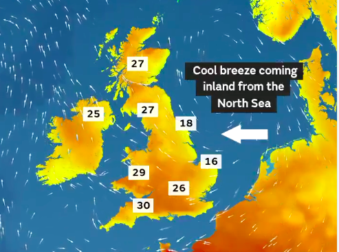 The unusual temperatures are set to break records in Europe. (MET OFFICE)