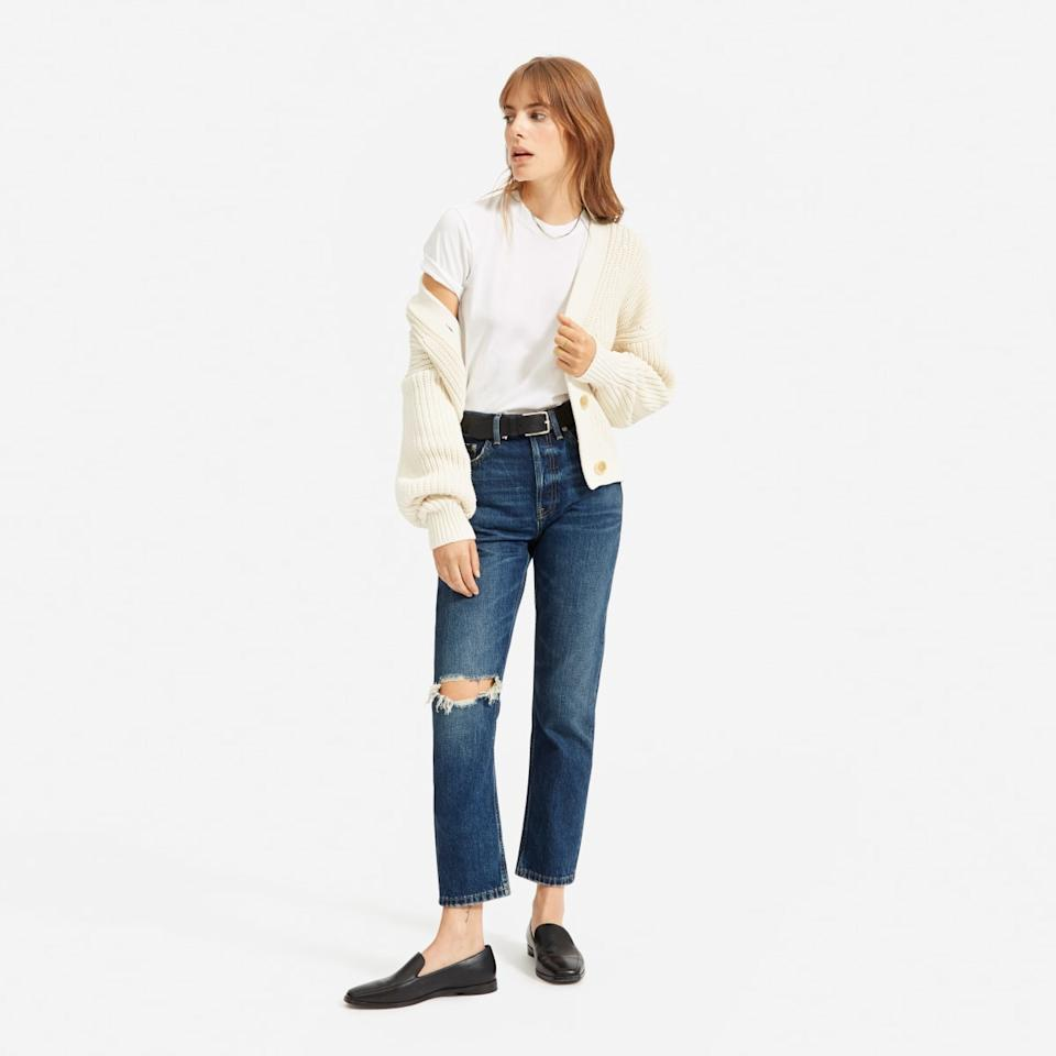 The '90s Cheeky Straight Jean. Image via Everlane.