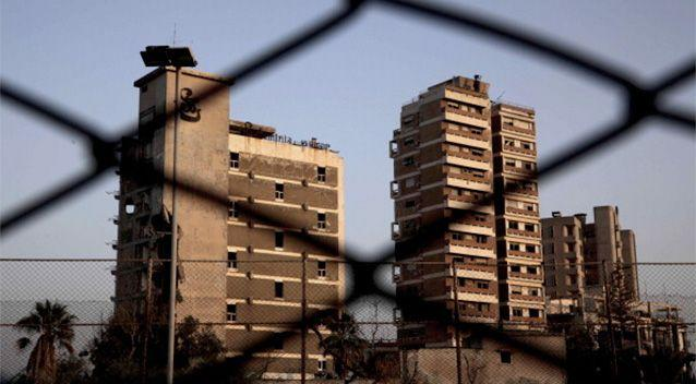 A view of deserted buildings of the tourist area of Varosha, in the fenced off area of Famagusta. Photo: Getty/AFP.