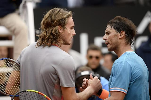 Tsitsipas was beaten by Nadal in the Rome semi-finals (AFP Photo/Filippo MONTEFORTE)