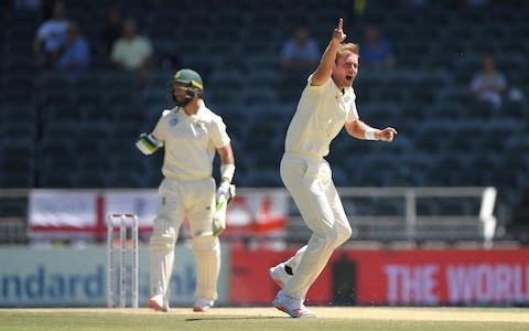 England bowler Stuart Broad appeals for the wicket of Pieter Malan during Day Four of the Fourth Test between South Africa and England at Wanderers on January 27, 2020 in Johannesburg, South Africa - Credit: Getty Images