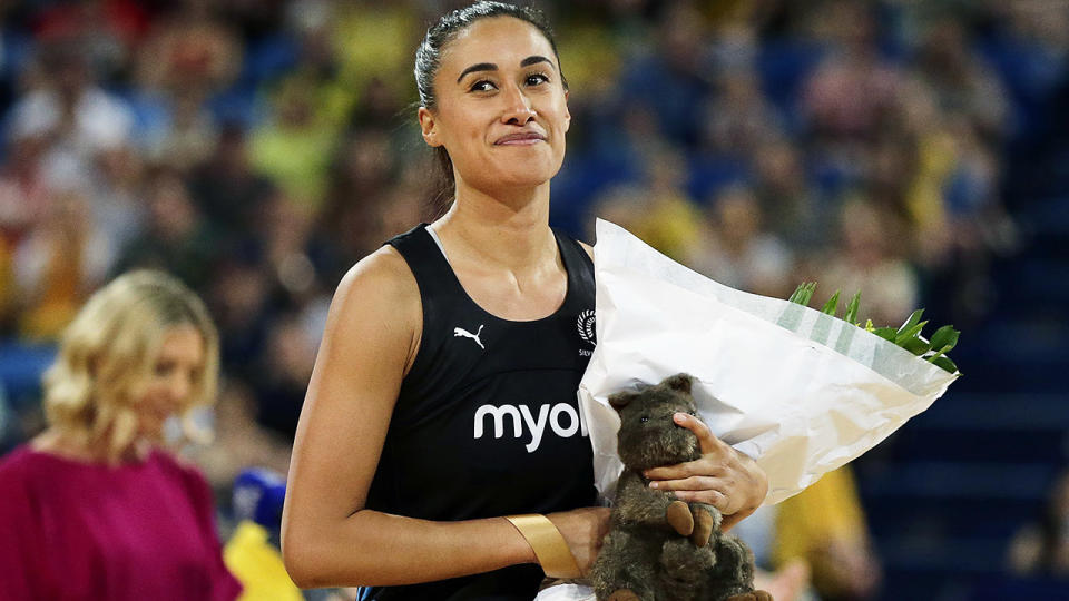 Maria Folau, pictured here during the 2019 Constellation Cup against Australia.