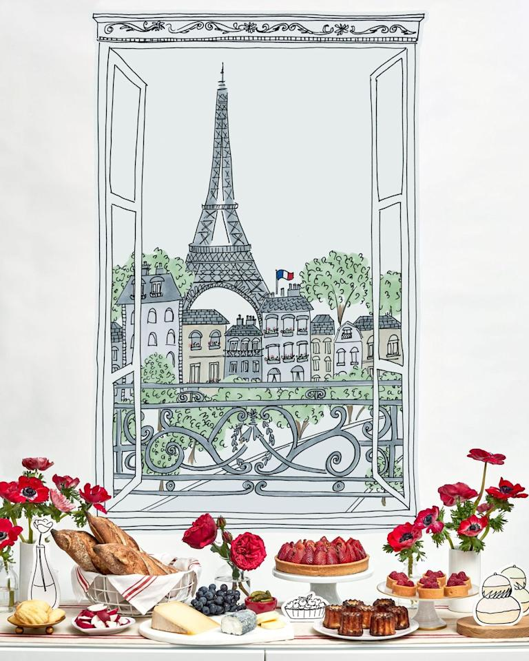 "<p>This year, make the City of Love a part of your Valentine's Day bash. Take a cue from the colors of the French flag—red, white, and blue—and make blueberries and flowers like red roses a part of your arrangement. Finish the look with a wall decal featuring the Eiffel Tower.  </p><p>Via <em><a href=""http://www.darcymillerdesigns.com/from-the-studio/from-paris-with-love-party/"" target=""_blank"">Darcy Miller</a></em></p><p><a class=""body-btn-link"" href=""https://go.redirectingat.com?id=74968X1596630&url=https%3A%2F%2Fwww.wayfair.com%2Fdecor-pillows%2Fpdp%2Fisabelle-max-13-piece-eiffel-tower-giant-wall-decal-w001002836.html&sref=http%3A%2F%2Fwww.elledecor.com%2Flife-culture%2Ffun-at-home%2Fg2387%2Fvalentines-day-decor%2F"" target=""_blank"">GET THE LOOK</a><em><br>Eiffel Tower Wall Decal, Amazon, $26</em><br></p>"