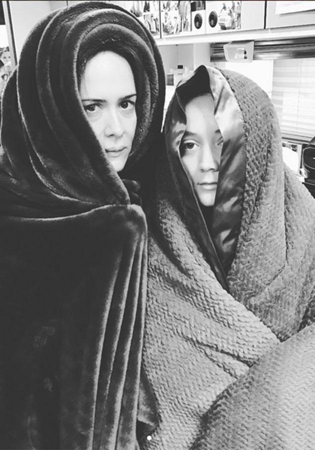 Billie poses with her American Horror Story co-star Sarah Paulson. Source: Instagram
