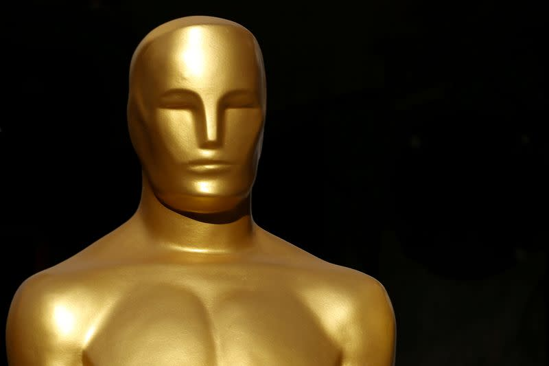 FILE PHOTO: An Oscar statue is shown in a shopping mall next to the arrivals area as preparation for the 92nd Academy Awards continues in Los Angeles