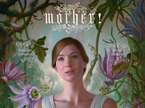 Jennifer Lawrence on 'Mother!' poster