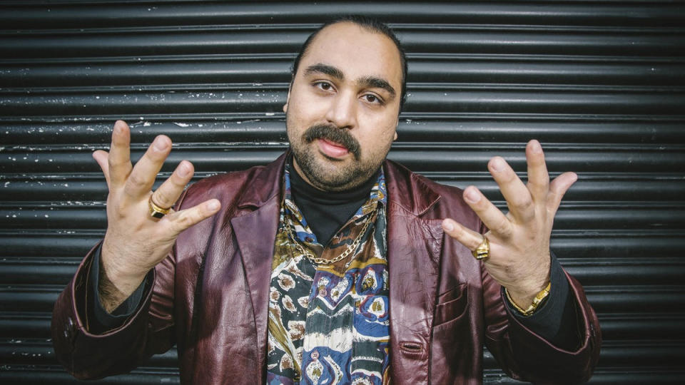 Asim Chaudhry as Chabuddy G in 'People Just Do Nothing'. (Credit: BBC)
