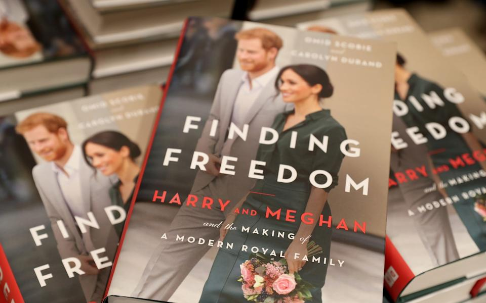 Copies of 'Finding Freedom' are displayed at a London bookshop - Chris Jackson Collection