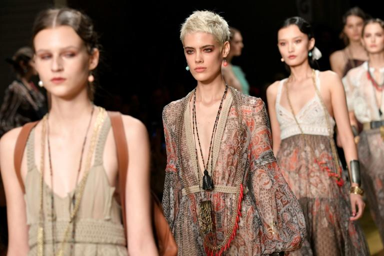 Sheer, gauzy material was everywhere you looked on the Milan runways
