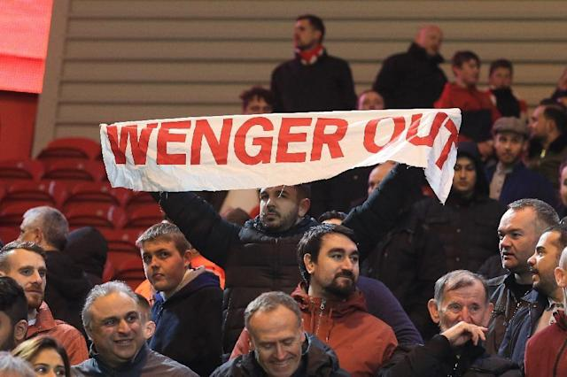 Arsenal manager Arsene Wenger has come under huge pressure from disillusioned fans (AFP Photo/Lindsey PARNABY)