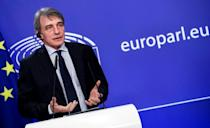 """European Parliament President David Sassoli warned that MEPs would """"not accept any backsliding from the UK government."""""""