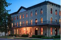 "<p>Though it doesn't stand tall, this boutique hotel in Kansas' Flint Hills boasts a 19th-century limestone exterior that sets it apart. Its Victorian ballroom and guest rooms transport patrons to another era, as will local attractions like the Marion County Courthouse and Santa Fe Trail.<br></p><p><strong>EXPLORE NOW:</strong> <a href=""https://www.tripadvisor.com/Hotel_Review-g38883-d2176878-Reviews-Historic_Elgin_Hotel-Marion_Kansas.html"" rel=""nofollow noopener"" target=""_blank"" data-ylk=""slk:The Historic Elgin Hotel"" class=""link rapid-noclick-resp"">The Historic Elgin Hotel</a><br></p>"